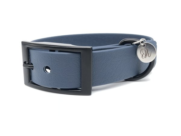 Hundehalsband PUR Dark Blue Black S