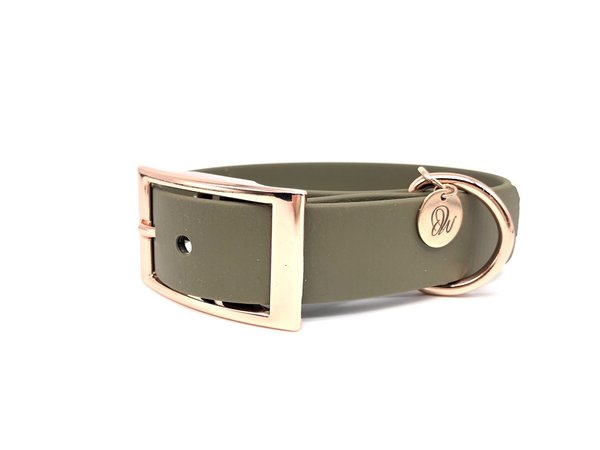 Hundehalsband PUR Green Roségold S